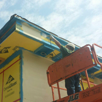 photo of exterior building foam insulation